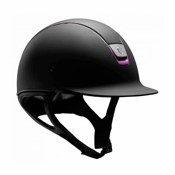 SAMSHIELD 訂製款騎士帽 (霧黑/紫紅色飾框/M) 不含帽襯,需另外加購