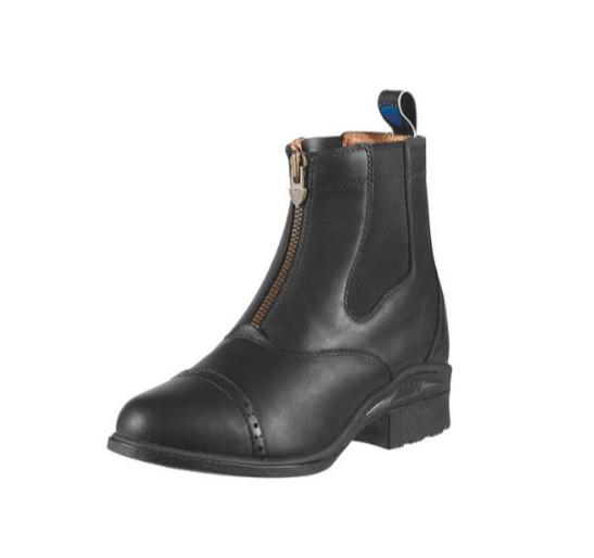 ARIAT 高級氣墊短筒皮靴 (第一代/鬆緊拉鍊設計/黑色/女版)