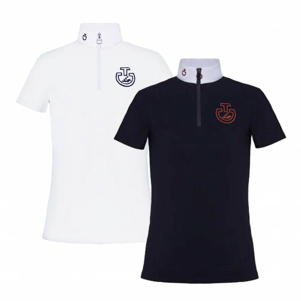CAVALLERIA TOSCANA  女童用比賽衫 (2色可選/立領)