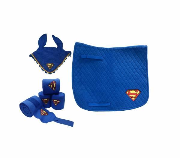 Superman 馬耳罩+繃帶+汗墊套組 (馬場馬術)