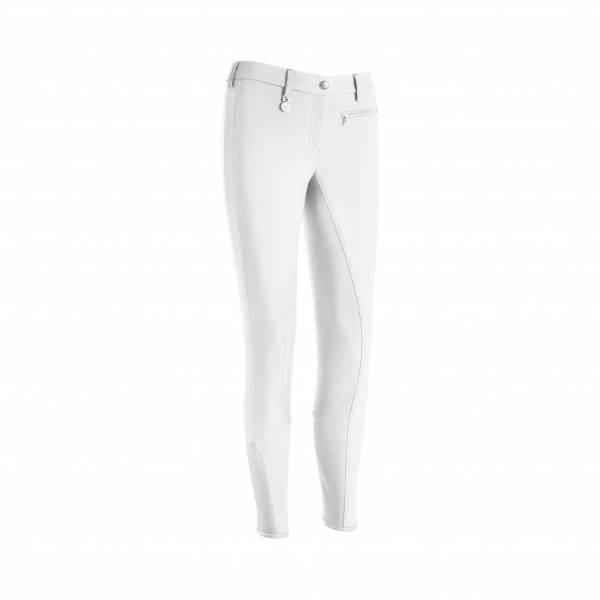 PIKEUR 女用馬褲 (止滑全皮/彈性縮口/白色)