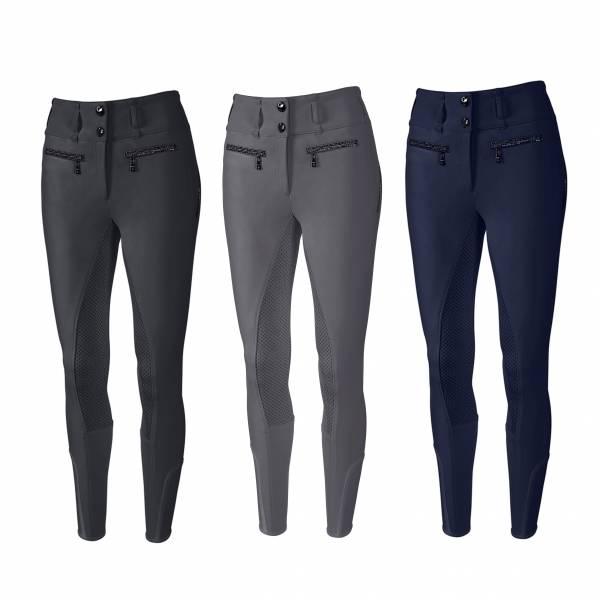 PIKEUR 女用馬褲  (高腰款/止滑全皮/彈性縮口/3色可選)