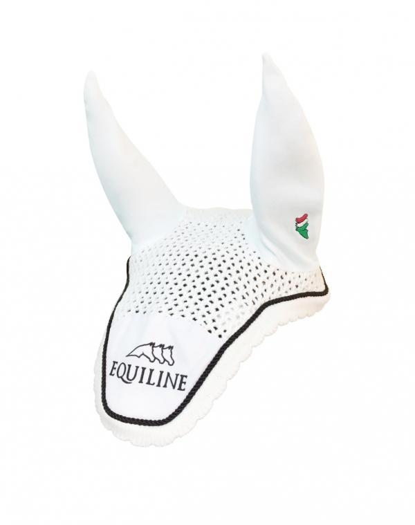 EQUILINE 馬耳罩 (勾針編織/白色/黑邊)