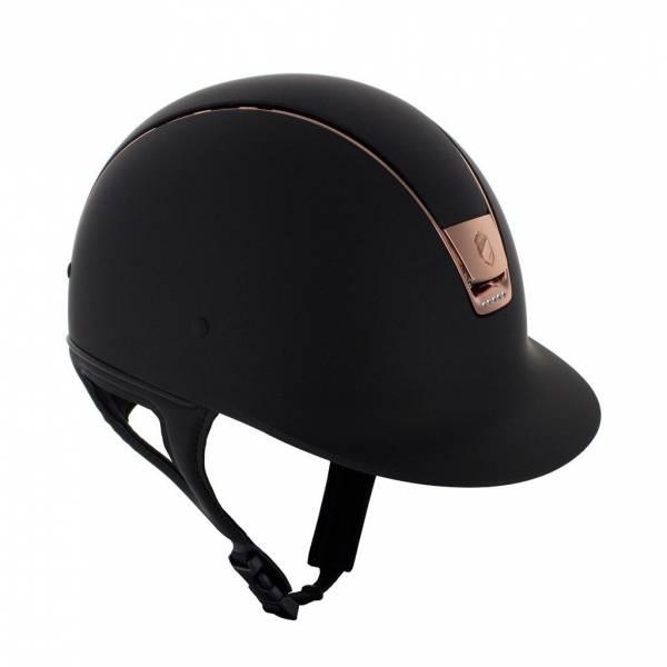 SAMSHIELD 訂製款騎士帽 (霧黑/玫瑰金/5鑽/M) 不含帽襯,需另外加購