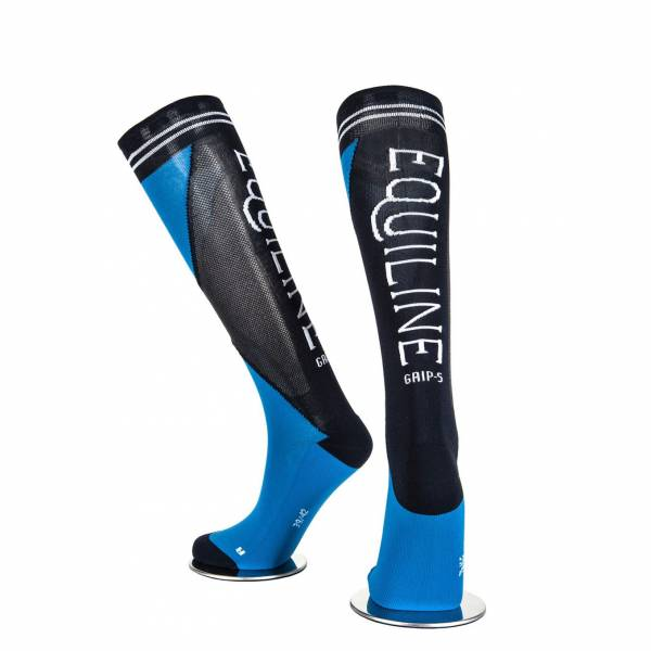 EQUILINE 騎馬長筒襪 (EQUILINE字樣/藍黑色)
