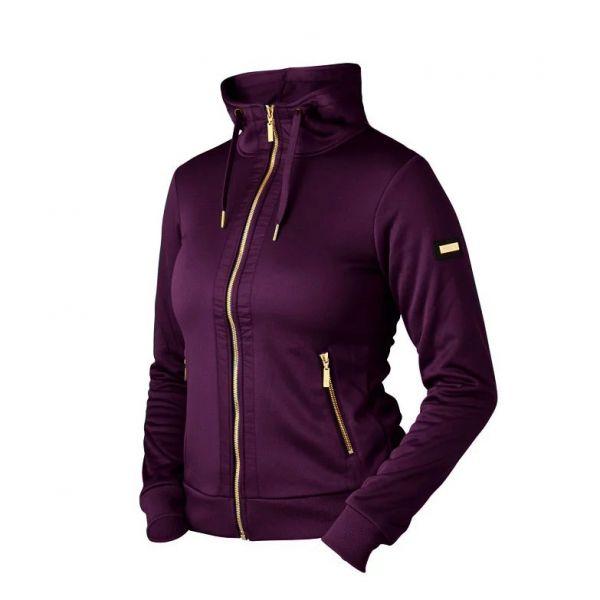 EQUESTRIAN STOCKHOLM 刷毛薄外套 (金典紫/領口抽繩設計/S/M)