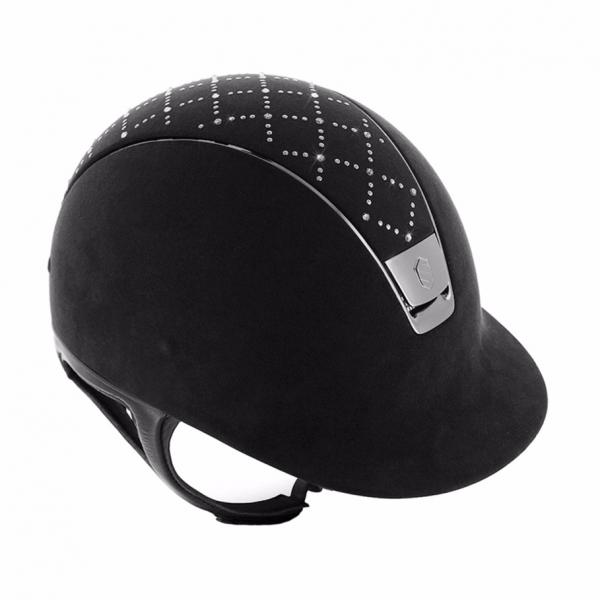 SAMSHIELD 訂製款騎士帽 (格紋水鑽/M/贈背袋) 不含帽襯,需另外加購