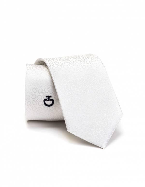 CAVALLERIA TOSCANA 比賽用白色領帶 (緞面)