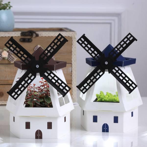 Paper Garden LED迷你植物燈/幸福風車 白色風車,交換禮物,聖誕節
