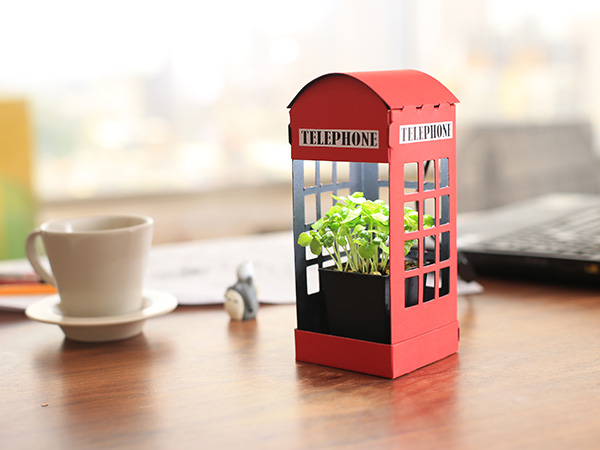 LED Mini Grow Light/ Red Phone Booth indoor,grow,light,mini,led,plant,diy,fresco,papergarden.,succulant,office,home,deco