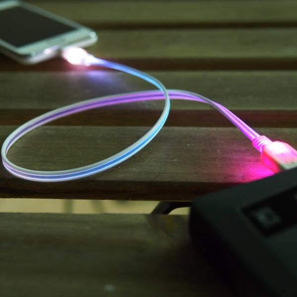 彩虹光纖USB發光傳輸線 數據線,USB,android,Mirco