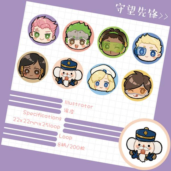 OW Stickers tape /OVERWATCH goods BY:誒皮(Neverland) OVERWATCH 周邊 BY:欸皮(Neverland)