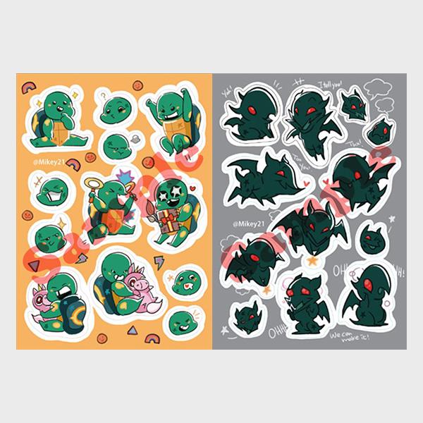 寶寶星龜與可愛蝙蝠刀模貼紙 /忍者龜 周邊 BY:Mikey21 忍者龜 周邊 BY:Mikey21