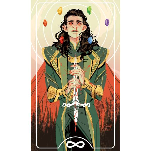 Loki Koldfoil Postcard+ Infinity stones Sticker /Thor Peripherals BY:MOMA!BEE 雷神索爾 周邊 BY:MOMA!BEE