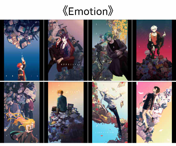 《Emotion》明信片組 /神秘信使 周邊 BY:蒼斐(Marionette) 神秘信使 周邊 BY:蒼斐(Marionette)