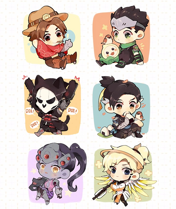 OW Character Acrylic Pin /OVERWATCH goods BY:茶貓(Neverland) OVERWATCH 周邊 BY:茶貓(Neverland)