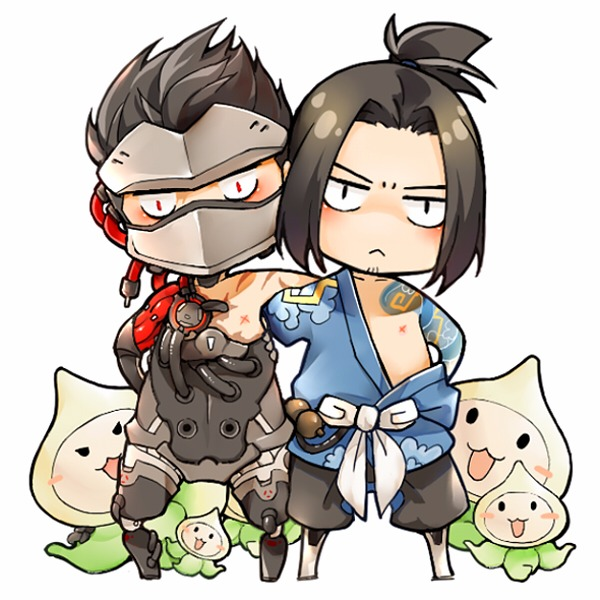 Shimada Brothers Single-sided Acrylic Charm /OVERWATCH Peripherals BY:Gei吉 OVERWATCH 周邊 BY:Gei吉