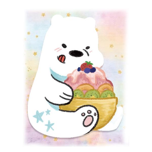 阿極的甜蜜刨冰滿版壓克力別針 /熊熊遇見你 周邊 BY:Mikey21 熊熊遇見你 周邊 BY:Mikey21
