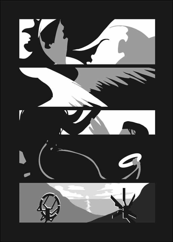 《Hankcon AU skech collection》(English ver.) /Detroit : become human Hankcon Illustration book BY:Sayatsugu 底特律:變人 漢康 圖本 BY:Sayatsugu(鞘繼)