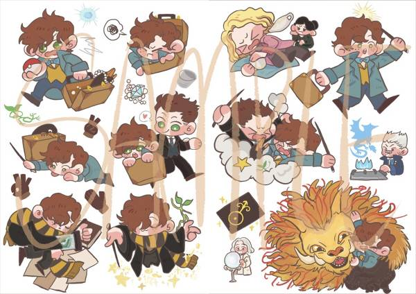 Newt Stickers set /Fantastic Beasts and Where to Find Them Peripherals BY:魚狗假(Neverland) 怪獸與牠們的產地 周邊 BY:魚狗假(Neverland)