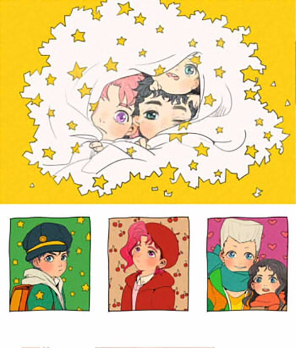 三部BABY組明信片 /JoJo的奇妙冒險 周邊 BY:壺壺 JoJo的奇妙冒險 周邊 BY:壺壺