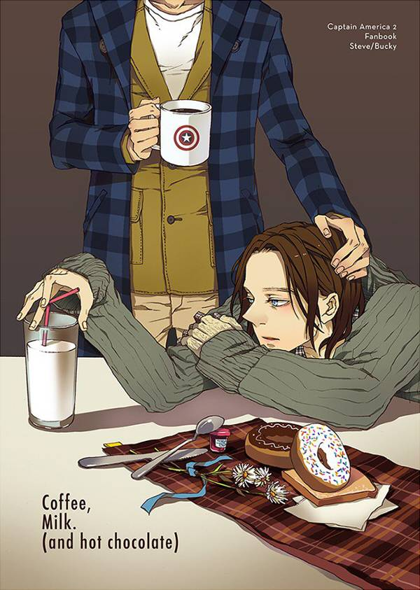 《Coffee, Milk. (And hot Chocolate)》 /美國隊長 盾冬 漫本 BY:VIOLET(Neverland) 美國隊長 盾冬 漫本 BY:VIOLET(Neverland)