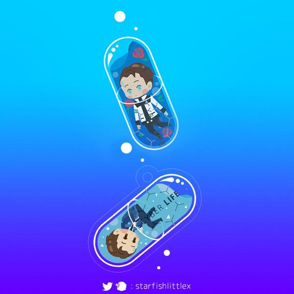 藍色小藥丸壓克力掛件 /底特律:變人 周邊 BY:格 底特律:變人 周邊 BY:腰之