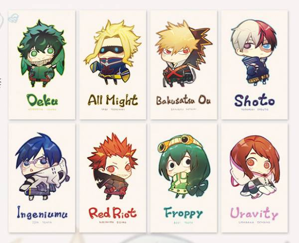 MHA Character Business Cards Set /My Hero Academia Peripherals BY:水梨 我的英雄學院 周邊 BY:水梨