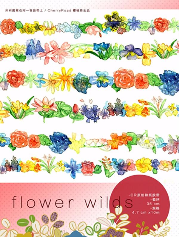 《Wild Flowers》和紙膠帶 /原創 周邊 BY:CherryRoad(櫻桃巷) 原創 周邊 BY:CherryRoad(櫻桃巷)