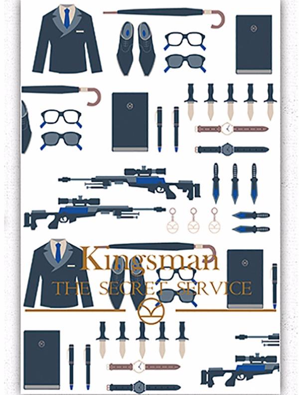 Kingsman穿線膠裝空白筆記本 /Kingsman 周邊 BY:Neverland Kingsman 周邊 BY:Neverland