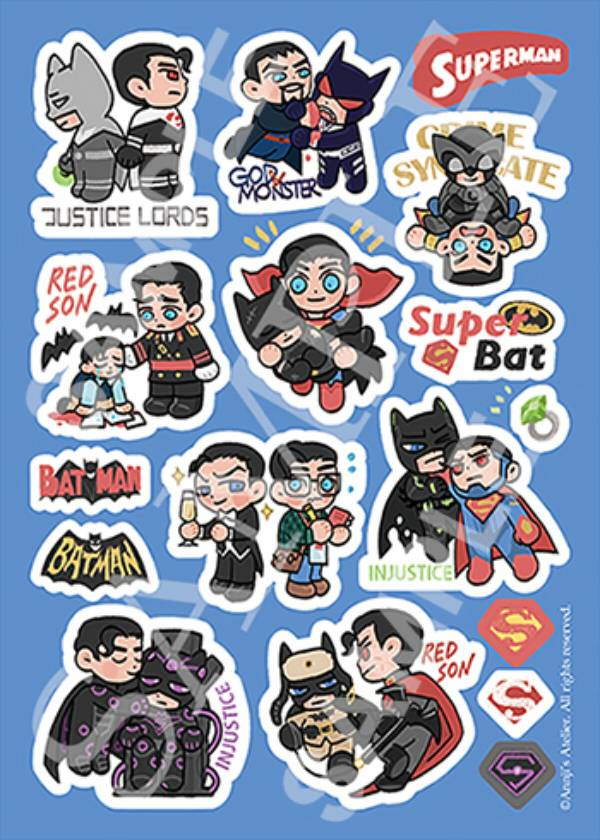 Superbat Sticker /DC Comics Superbat Goods BY:安吉(Annji's Atelier) DC 超蝙 周邊 BY:安吉(Annji's Atelier)