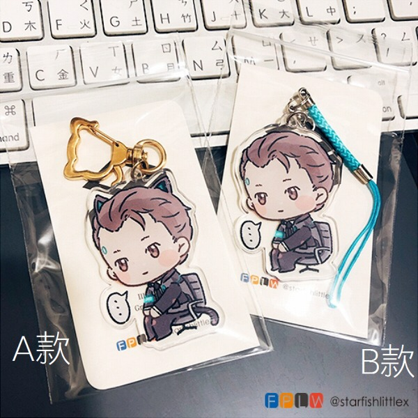 Good Boy Connor Acrylic Charm /Detroit : become human Peripherals BY:格 底特律:變人 周邊 BY:腰之