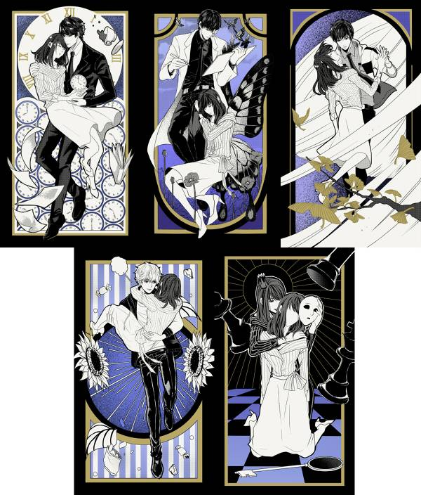Mr Love Postcards Set /Mr Love: Queen's Choice Peripherals BY:團表哥 戀與製作人 周邊 BY:團表哥