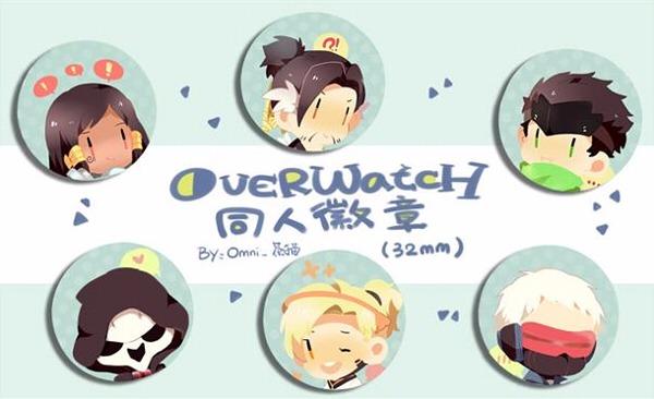 OW Afternoon Tea Pin Set /OVERWATCH Peripherals BY:Omni_茶貓(Neverland) OVERWATCH 周邊 BY:Omni_茶貓(Neverland)