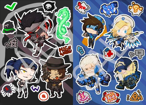 【PRE-SALE】UPRISING LOOT BOX Acrylic Charms & Stickers /OVERWATCH Peripherals BY:光月(金屬兔與變種鱷工房) OVERWATCH 周邊 BY:光月(金屬兔與變種鱷工房)