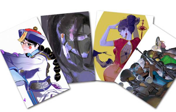 《小白臉兒》Postcards set /OVERWATCH Peripherals BY:沙丘(靖上川) 陰陽師 茨酒 漫本 BY:大P