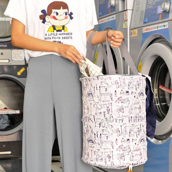 *【喵奴的快樂洗衣日】小號洗衣籃 洗衣籃、貓籃、輕便、好收納