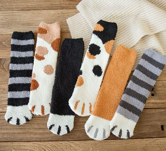 【冬天來雙肉球襪】襪子