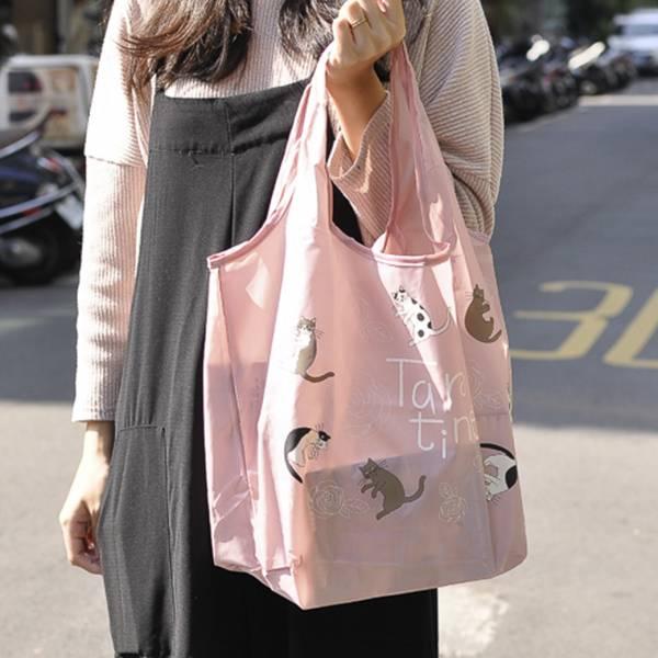 【大容量喵喵隨身帶】環保購物袋 環保袋,大容量,貓咪提袋