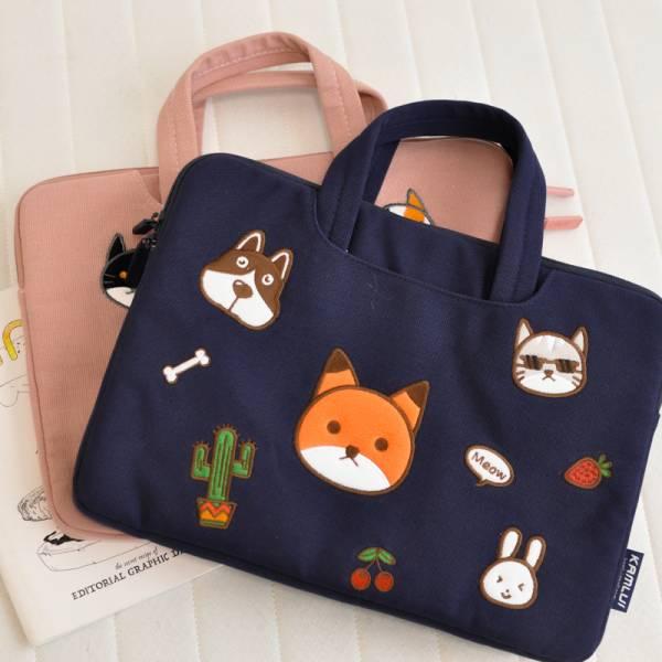 【兩用萌喵包包】貓奴的手提肩帶筆電包