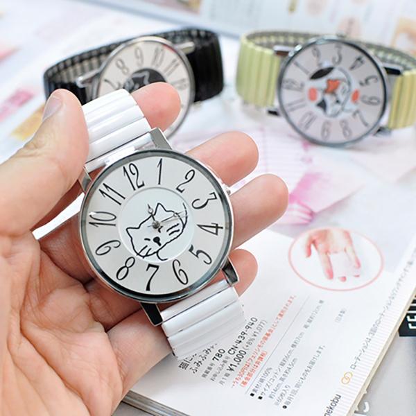 *日本進口限量【伸縮喵好好戴】貓錶-半年保固 日本手錶、合金錶、貓頭錶