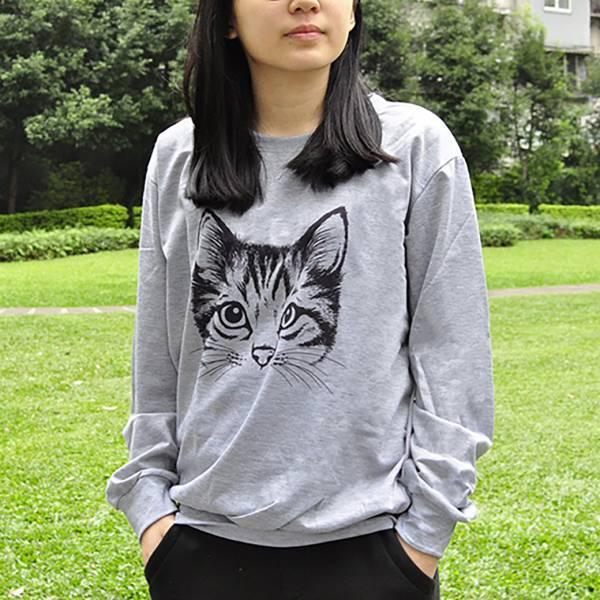 #【貓頭穿著走】貓頭長T