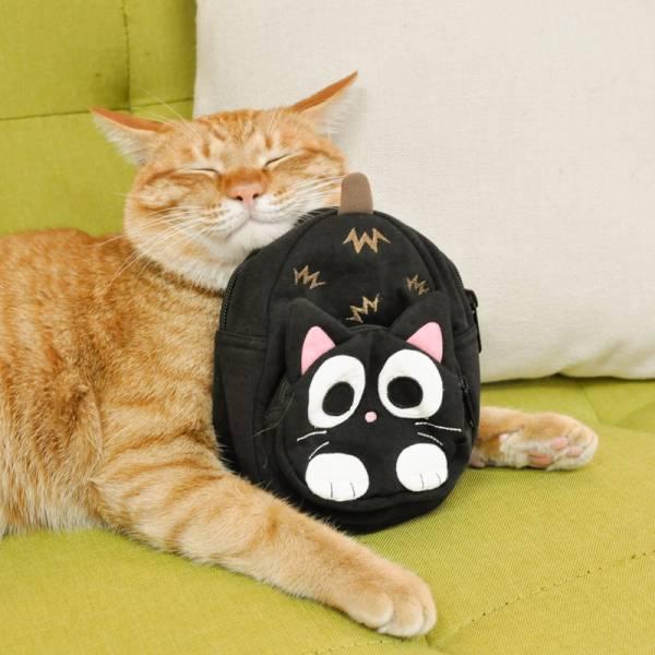 【小小黑貓裝東西】小黑貓立體造型收納包