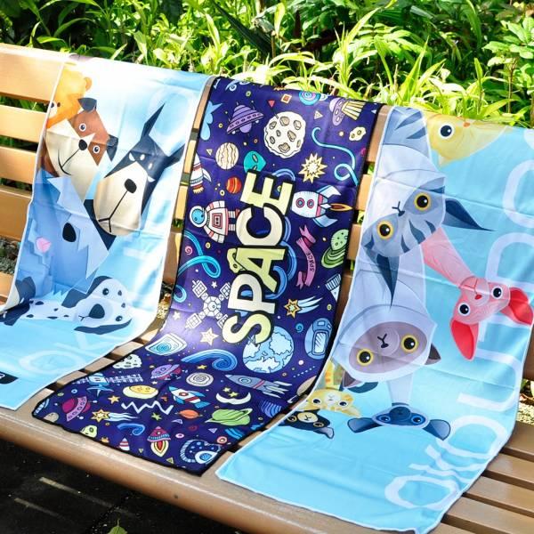*【貓奴也喜歡運動】冷感快乾毛巾 涼感毛巾、毛巾、運動毛巾