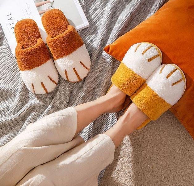 *停產出清*【軟綿綿又溫暖】貓掌棉質拖鞋