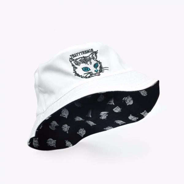 【貓奴釣魚去,朕餓了】雙面漁夫帽 雙面漁夫帽、貪吃漁夫帽、漁夫帽
