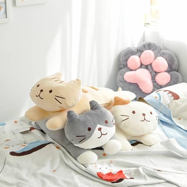 【抱一下趴趴貓】fuku趴趴抱枕 貓咪抱枕,fuku,可愛多用枕