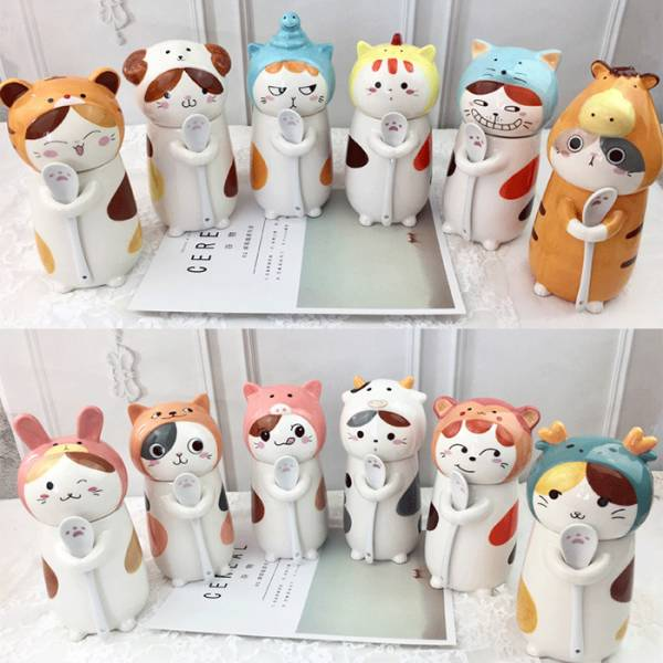 【十二生肖貓咪湊一團】陶瓷杯 十二生肖,馬克杯,貓,喵
