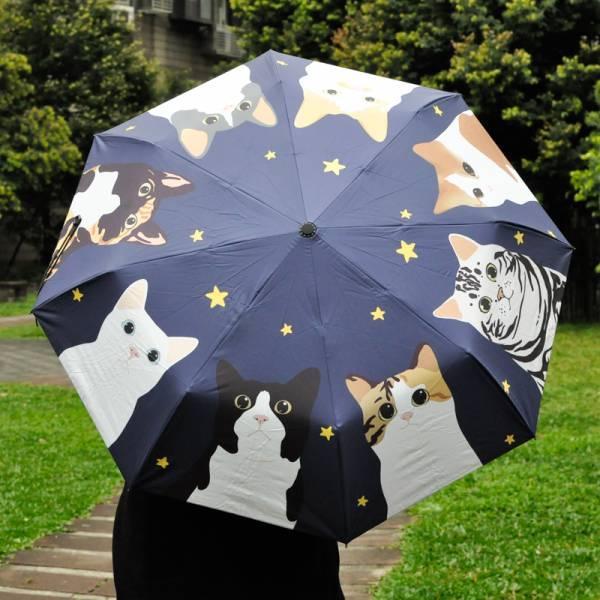 【陪你遮雨擋陽的喵】貓頭貓掌手動傘