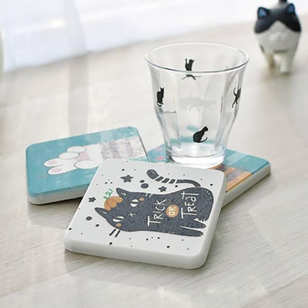 【愛吸水的喵兒】珪藻土 珪藻土、吸水杯墊、辦公桌